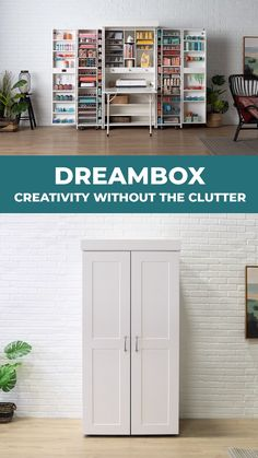 Like a warm bath on a brisk day, the DreamBox is an in-home getaway. Surround yourself with things you love, in an organized and inspiring fashion. Everything consolidated and within reach. - DreamBox: Creativity Without the Clutter Furniture, Room, Room Design, Craft Room Storage, Home Crafts, Home Decor, Craft Room Design, Home Diy, Space Saving Furniture