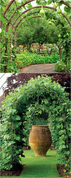21 Easy DIY Garden Trellis Ideas & Vertical Growing Structures Create enchanting garden spaces with 21 beautiful and DIY friendly trellis and garden structures, such as tunnels, teepees, pergolas, screens and more! – A Piece Of Rainbow Potager Garden, Garden Arbor, Diy Garden, Dream Garden, Garden Projects, Garden Gate, Garden Pallet, Pallet Projects, Herb Garden
