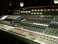 """Neve 40 input 8048 console at The Village Studio A. This was shot during sessions on SNEW's """"We Do What We Want"""" album in 2010. It had recently been refurbished at the time and sounded great. #recording #producers"""