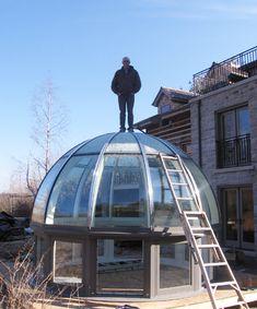 Cool silo idea for a barn home.