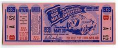 1939 Indianapolis 500 ticket | by indianapolismotorspeedway.com
