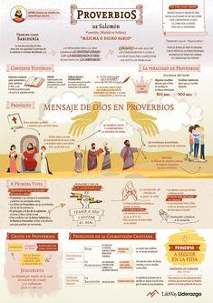 Infografías - Libro de Proverbios School Notes, Christian Life, Make It Simple, Bible, Author, Names, Books, Bible Art, Christianity