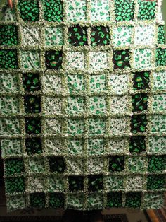 St. Patty's Rag Quilt