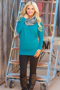 So soft and comfortable! Basic dolman top available in several solid colors. Add skinny jeans or leggings! These tops are also great for layering under jackets