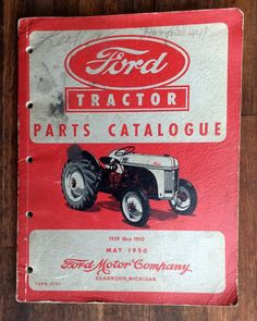 May 1950 Ford Tractor Parts Catalogue.