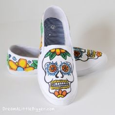 Sugar Skull Sneakers