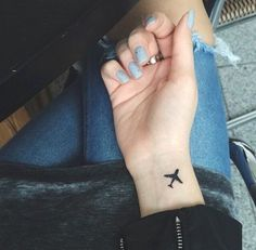 Image de tattoo and airplane