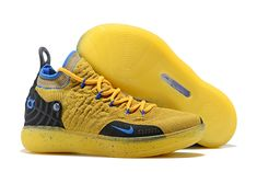 buy online 6af2a 9bc2e Kevin Durant s Nike KD 11 Yellow Black-Blue Shoes Free Shipping Kevin  Durant Shoes