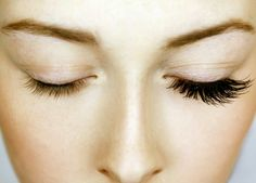 Before and after eyelash extension