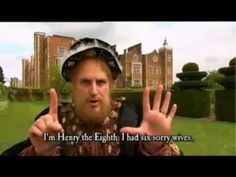 The Wives of Henry VIII (Terrible Tudors) from Horrible Histories. The lyrics divorced, beheaded and died. I love these videos! Tudor History, British History, American History, Renaissance, Wives Of Henry Viii, Horrible Histories, Story Of The World, Mystery Of History, Teaching History
