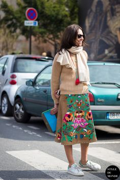 Viviana Volpicella Street Style Street Fashion Streetsnaps by STYLEDUMONDE Street Style Fashion Blog