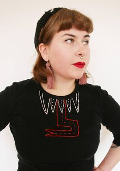 Hand embroidered second hand top by Pimped Rägs Two Hands, Top, Clothes, Outfits, Clothing, Clothing Apparel, Kleding, Crop Tee, Cloths