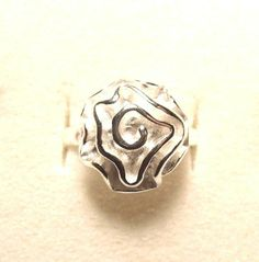 Rose Flower Silver Rings FREE Shipping! Size 6 6.5 7 7.5 Valentines Day Gift