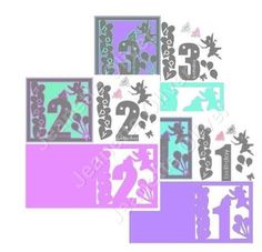 Special Offer 3 Sets Fairy Topper Card Ages 1 2 3 STUDIO on Craftsuprint - Add To Basket!