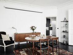 Wooden floor in vintage style aparment
