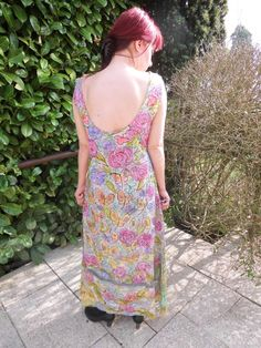 Handpainted summer-silkdress size S. - pinned by pin4etsy.com