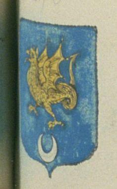DRAC, avocat au parlement de Provence. Porte : d'azur, à un dragon d'or, soutenu d'un croissant d'argent | N° 240