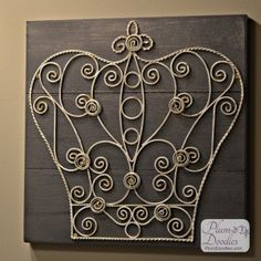 Updated Crown Wall Art- Crown Wall Decor