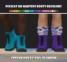 ひもうと, maimouth: Pixicat Dr Martens Boots Recolors (...