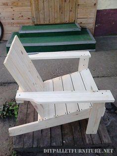 Chaise de jardin avec palettes 3