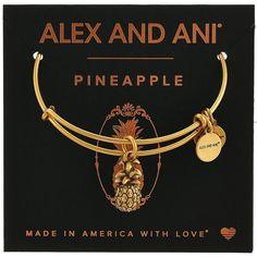Alex and Ani Path of Symbols-Pineapple III Bangle (Rafaelian Gold)... ($32) ❤ liked on Polyvore featuring jewelry, bracelets, gold charms, gold bangle bracelet, gold hinged bracelet, gold pineapple charm and gold hinged bangle