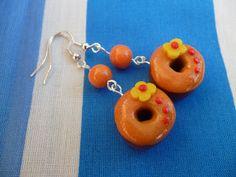 Kedy kreatív termékek: Narancs fánk fülbevaló