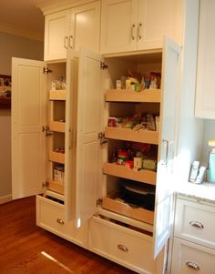 pull out drawers for kitchen cabinets | ... Unexpected, versatile and very practical pull-out shelf storage ideas