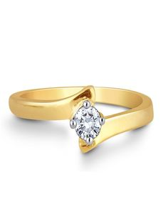 Buy Online Diamond Ring | diamonds4you A lovely solitaire diamond set in yellow gold band shaped in a promise gesture. A meaningful gift to your loved one.....! - See more at: http://diamonds4you.com/item/21307082.aspx#sthash.1QhMAN5a.dpuf