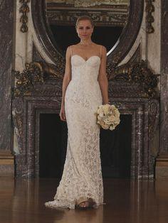 Romona Keveza sweetheart neckline lace wedding dress