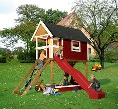 Stelzenhaus Baumhaus Justin Optional Mit Rutsche | Stelzenhaus ... Spielhaus Im Garten Verspricht Abenteuer Pur Im Eigenen Hinterhof