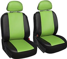 Oxgord Leatherette Bucket Seat Cover Set for CarTruckVanSUV Airbag  Green Black ** Check out this great product.Note:It is affiliate link to Amazon.
