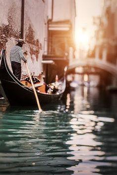 Romantic boating in Venice, Italy