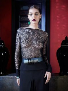 La Perla FW2012 lingerie  This is just one bra shy of being a perfect lingerie-as-outerwear look!