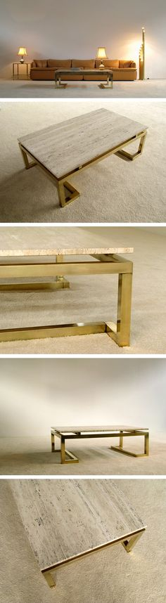 Modern rectangular elegant Regency Coffee Table Large