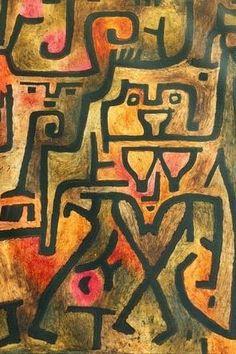Paul Klee, Waldhexen #Paul #Klee #weewado #paul #klee #witch #magic #esotericism