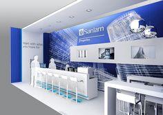 Trade Show Design Rendering, Sanlam Properties Business Lounge.