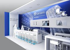 Trade Show Design Rendering, Sanlam Properties Business Lounge.