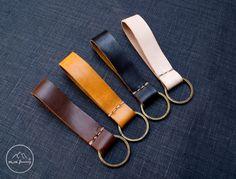 Leather Keychain ,Key Fob ,Keyring by NJ-Leather, $8.00 USD