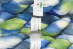 Handpainted Merino Wool and Tussah Silk Roving in Pacific by Blarney Yarn by blarney yarn on Easy