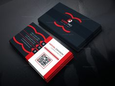 Elegant Business Card Design Template in EPS Format 001624 - Template Catalog