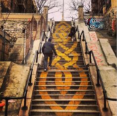 """Kings Bridge in the Bronx is known for its staircases, some with up to 160 steps. These """"step streets"""" are also home to some wonderful street art."""