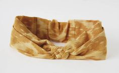 Aztek Ethnic Headband Knotted Head Wrap in Yellow Knotted