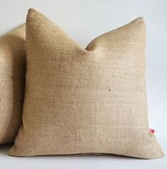 Burlap Pillow Cover 20x 20 Inches