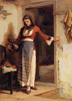 Γεραλής Απόστολος-Γυναίκα με κανάτι