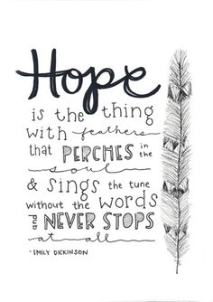 hope. || Dickenson Quote 8x10 Print by elleizahbeth on Etsy, $10.00