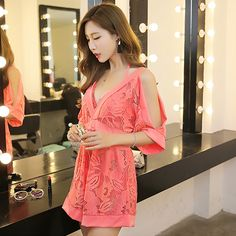 Korean Style Solid Lace Flower Grid Split Three Pieces Spa Swimsuit Fold Patchwork Slim Sexy Chest Gathered Bathing Suit Bikini