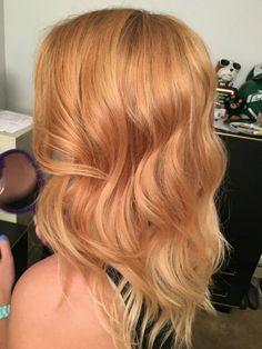 Subtle Ombré, blonde to strawberry blonde. @ClassieBeauty