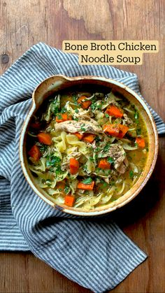 Chicken Soup Recipes, Healthy Soup Recipes, Cooking Recipes, Vegetarian Chicken Noodle Soup, Chicken Noodle Soup Rotisserie, Hearty Chicken Soup, Chicken Broth Soup, Vegetable Noodle Soup, Homemade Chicken Soup