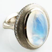 Moonstone 'Saturn' Ring
