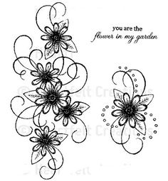 Ultra Feminine Daisy Tattoo. Would love to incorporate this with my sons names.
